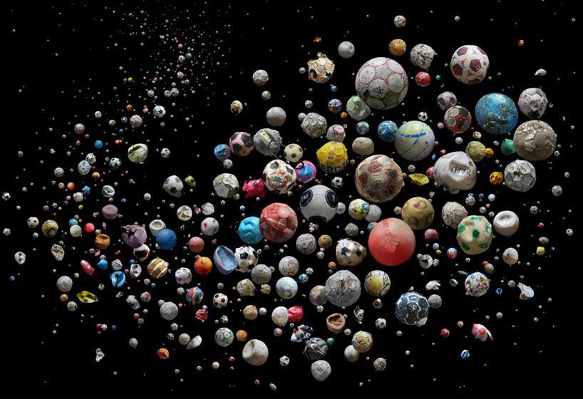 Fotografias Artisticas con Pelotas Recicladas y Basura