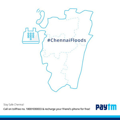 Paytm is doing free recharge for friends in Chennai
