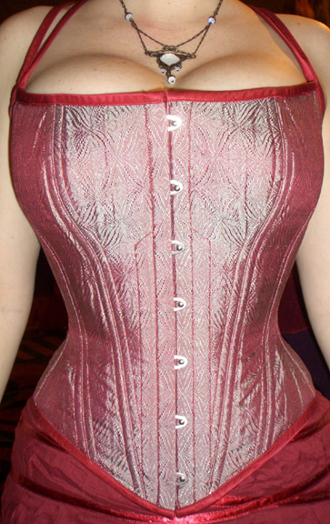 8004b5e35b A modern cut scoop neck corset. This one is more like a demi-bra