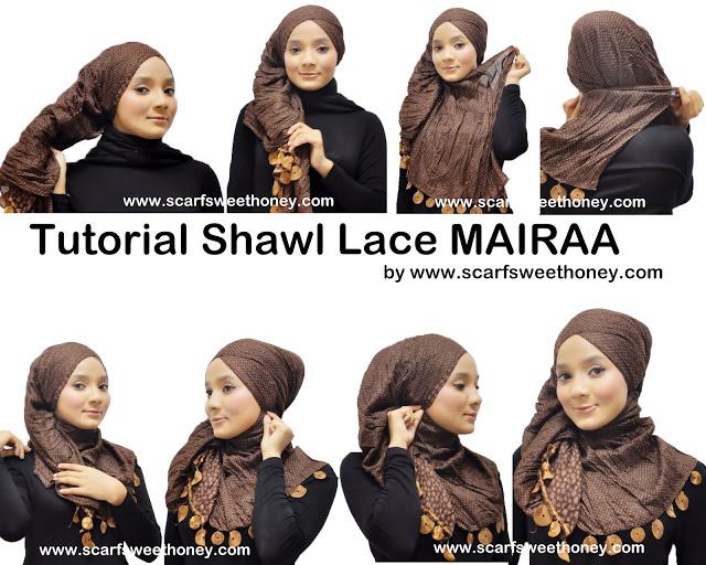 Cara Memakai Shawl Lace MAIRAA - Tutorial Memakai Jilbab & Hijab Modis