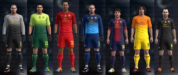 PES 2012 Barcelona FC 2012/13 Kits Update by Cuky