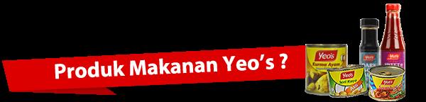 Produk makanan Yeo's