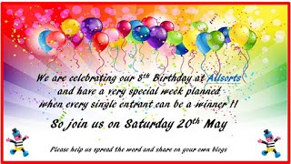 ALLSORTS 8TH BIRTHDAY