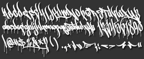tagging letters a z street art graffiti