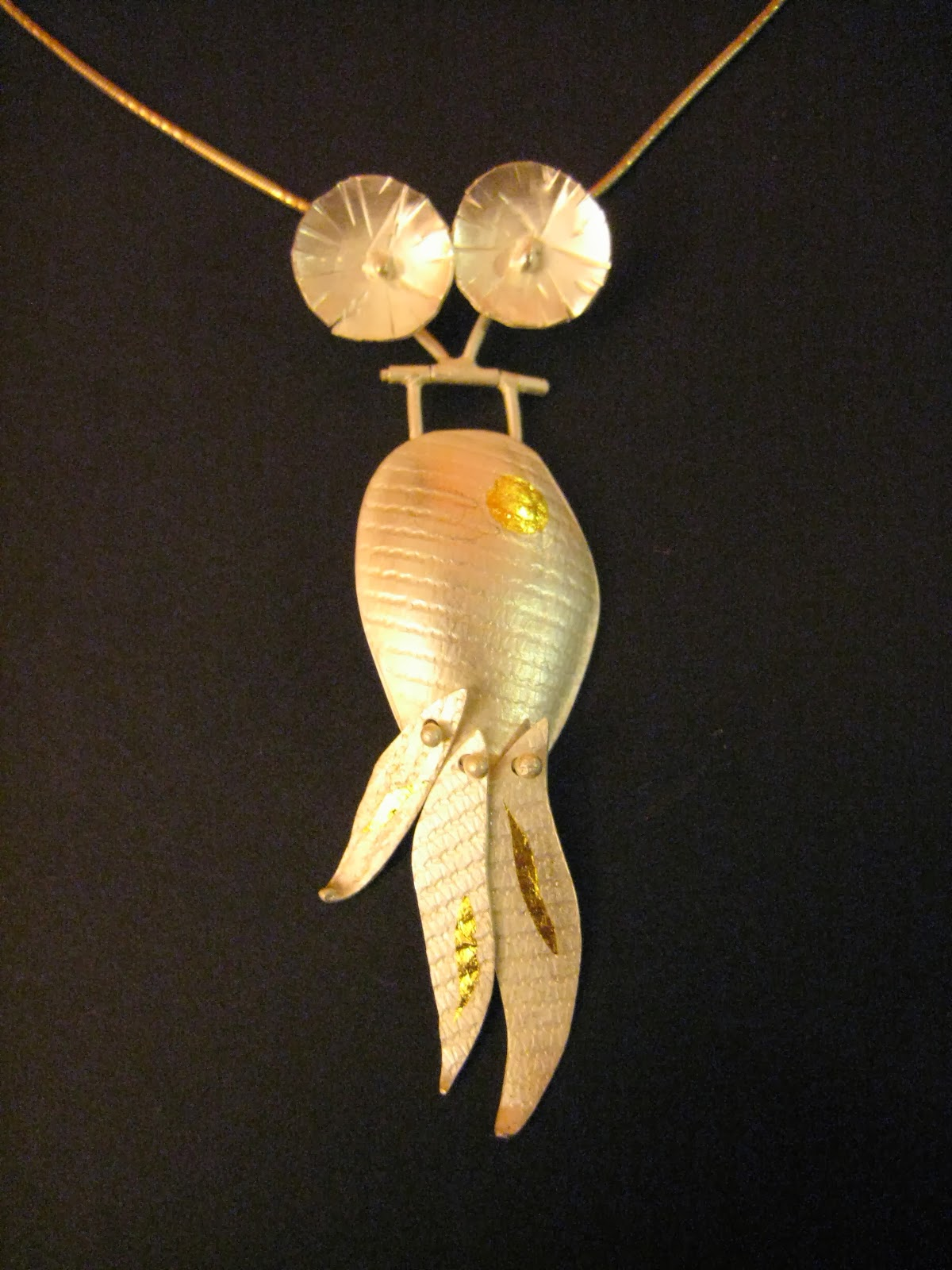 Gold fish pendent