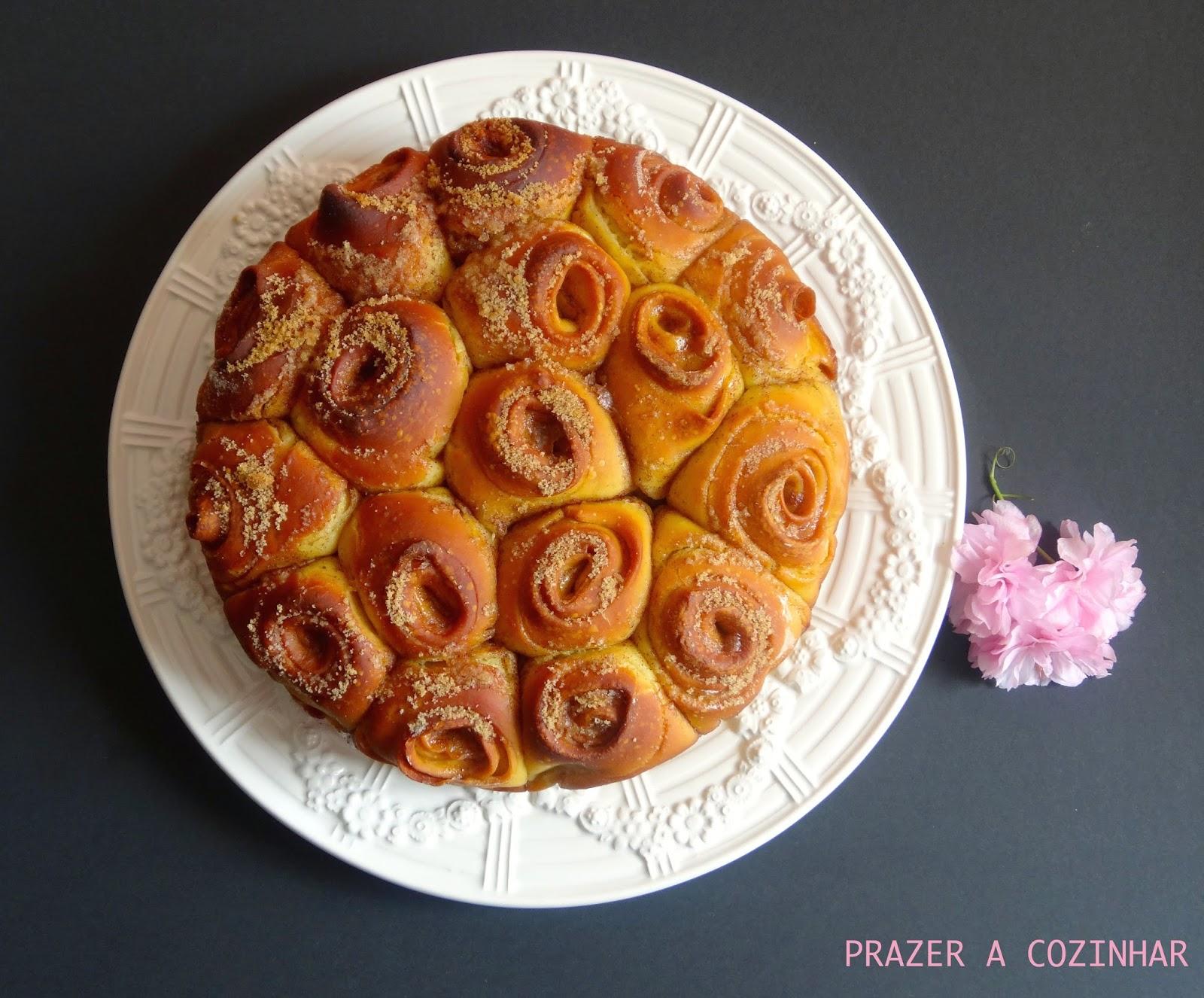 prazer a cozinhar - Folar de rosas