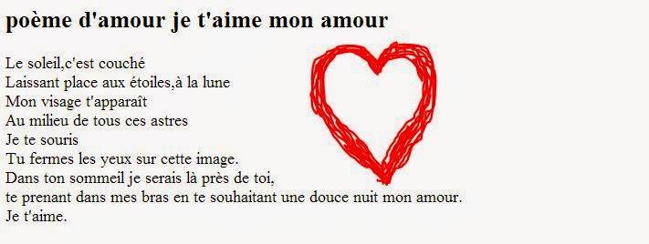Mini poèmes d'amour je t'aime mon amour