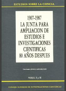 """""""Simposio Internacional sobre la Junta para ampliación de Estudios e investigadores"""" - José Manuel Sanchez Ron."""