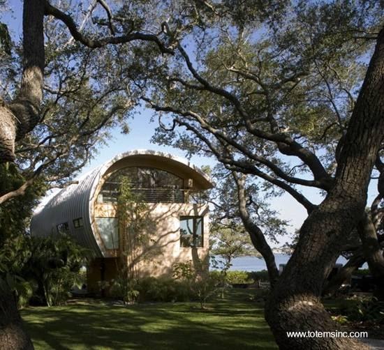 Arquitectura de casas moderna casa de madera y dise o - Diseno de jardines para casas de campo ...