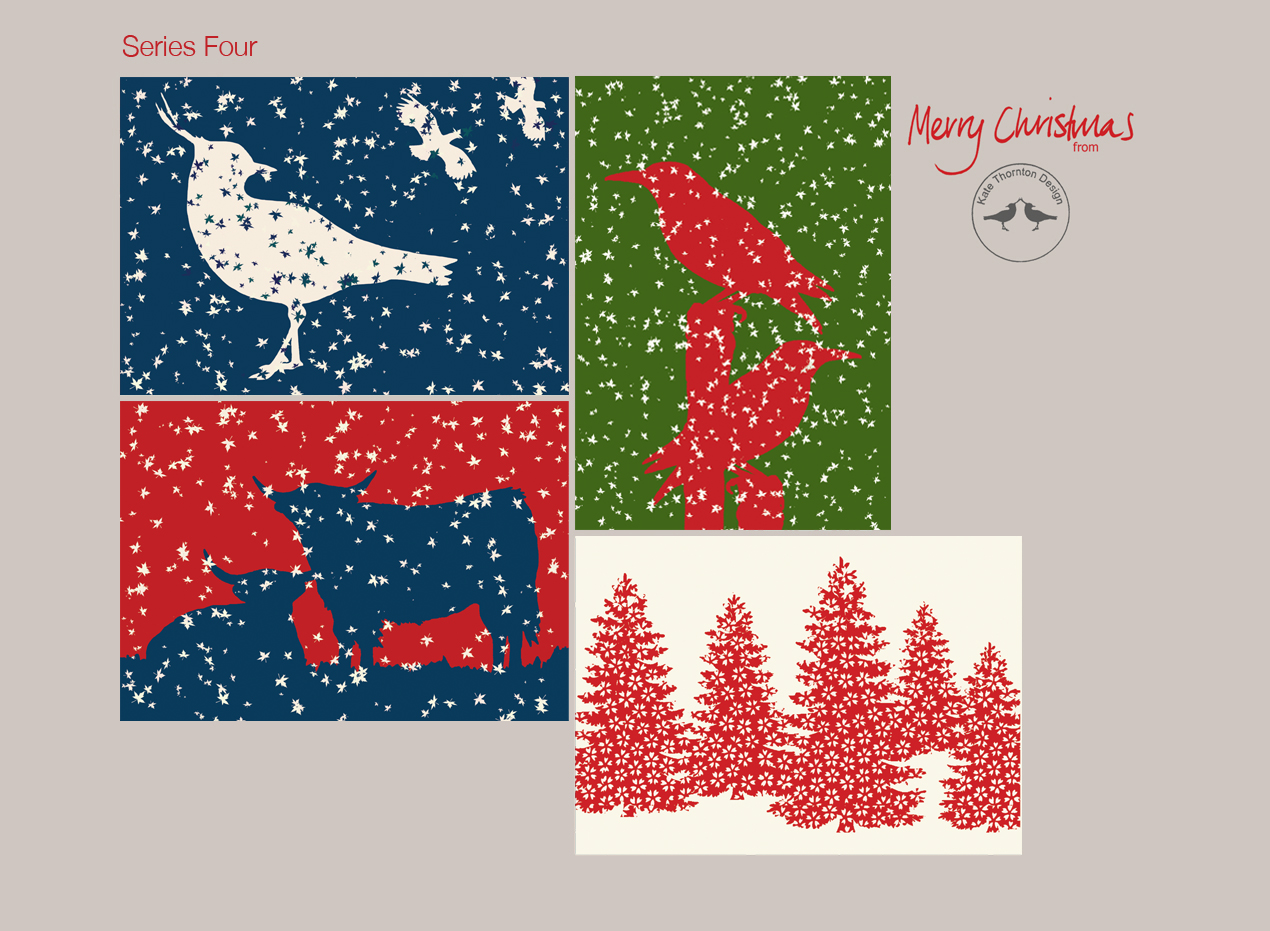 Kate Thornton Design: New Series of Christmas Cards for 2015