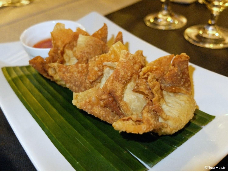 Thai Spices resto Cantine Thaï Paris beignets frits raviolis