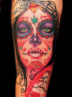 significado de Tattoos de Caveira Mexicana