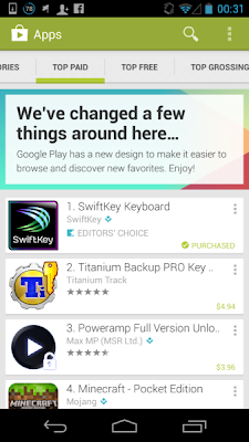 Google Play Store 4.0.25 for Android