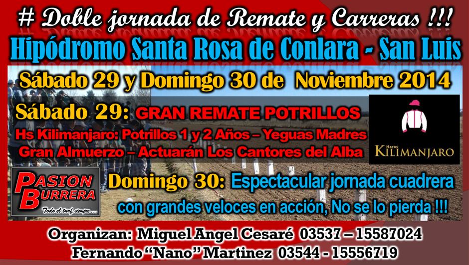 SANTA ROSA DE CONLARA . 29 Y 30