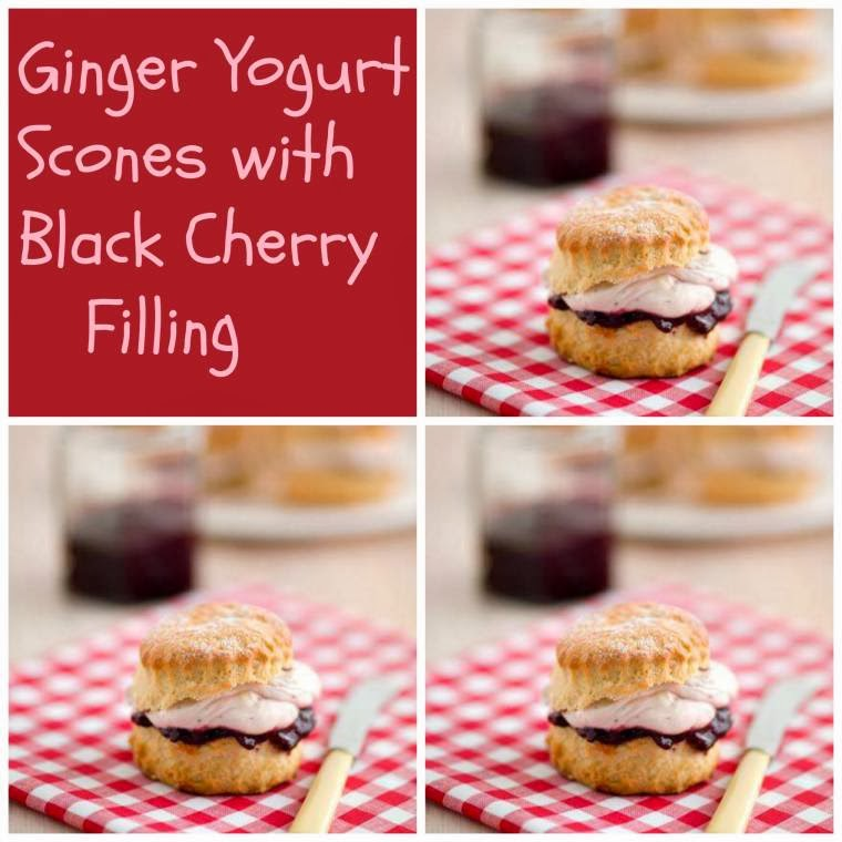 ginger yogurt scones with black cherry filling this scones recipe is ...