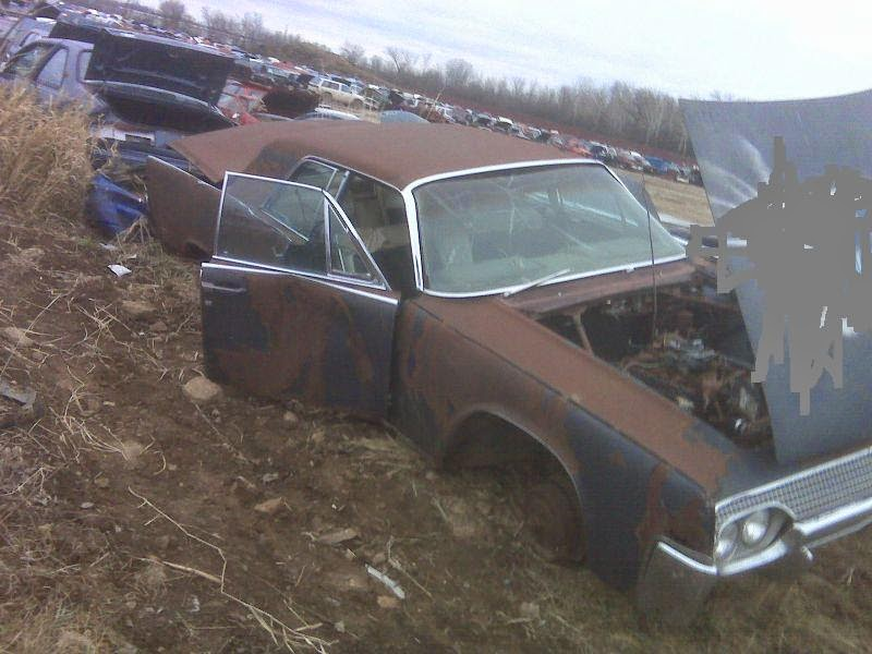 1964 lincoln continental lincolns continentals at the salvage yard part 1. Black Bedroom Furniture Sets. Home Design Ideas