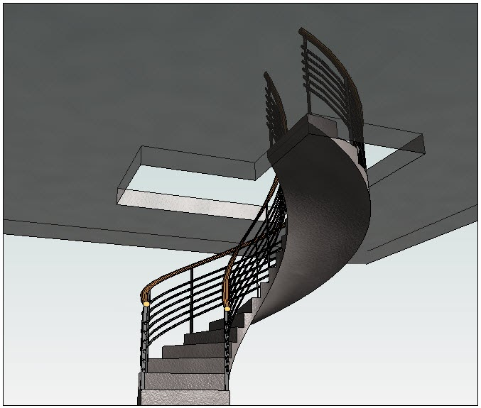 Revitez calculer les escaliers circulaires for Marche d angle calcul
