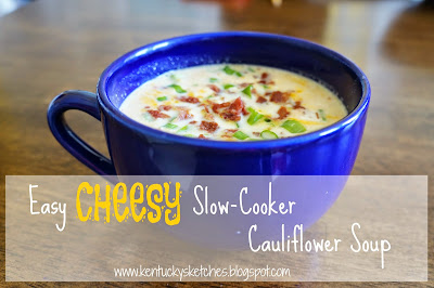 Easy Cheesy Slow-Cooker Cauliflower Soup