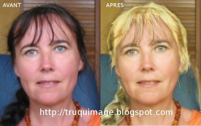 Le blog du truqueur d 39 images passer ses cheveux du brun au blond avec the gimp - Comment enlever le jaune d une decoloration ...