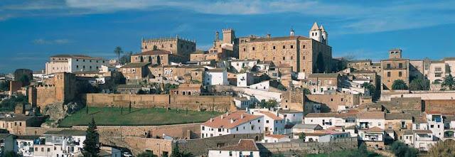 Panorámica de la Ciudad de Cáceres - que visitar