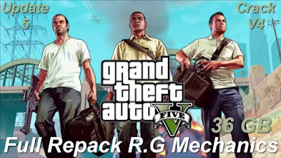 Free Download Game Grand Theft Auto V Pc Full Repack R.G Mechanics – Update 5 (v1.0.350.2) – Crack v4-3DM – Original Version 2015 – Direct Link – Torrent Link – 36.29 GB – Working 100% .