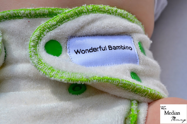 Wonderful Bambino one-size bamboo fitted cloth diaper review.