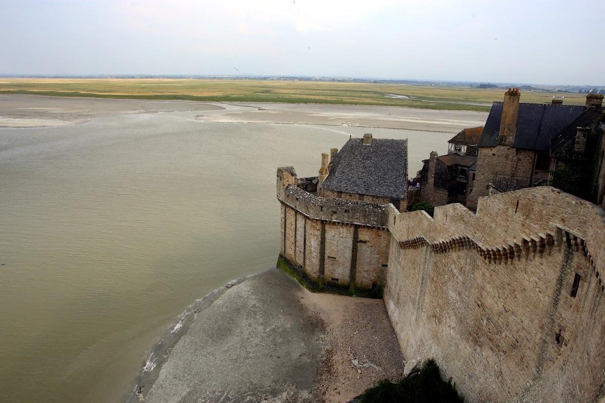 Mont Saint Michel and tones of sea green
