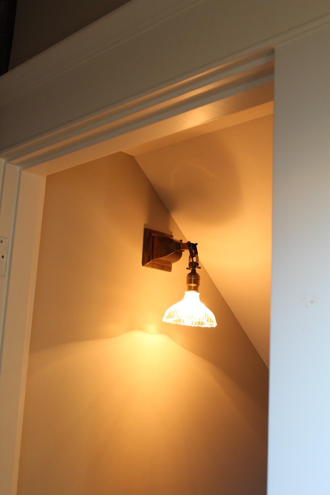 Rose City Bungalow  December - Basement light fixture