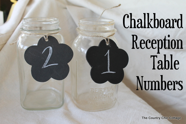Chalkboard Tag Wedding Reception Table Numbers