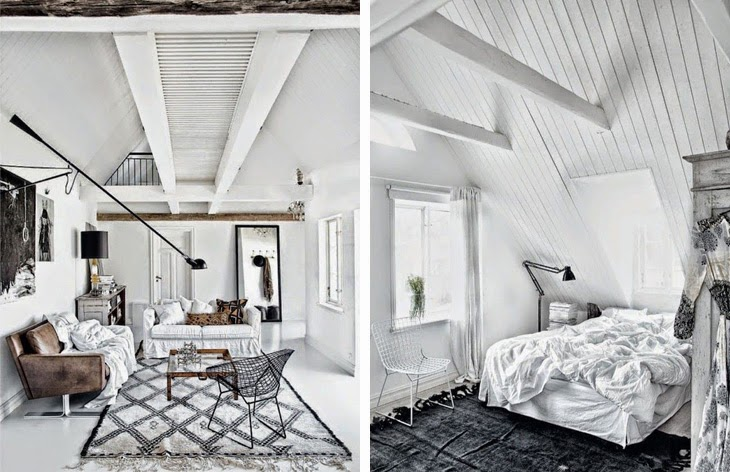 Inspiring scandinavian apartment in monochrome amazing for Monochrome interior design ideas