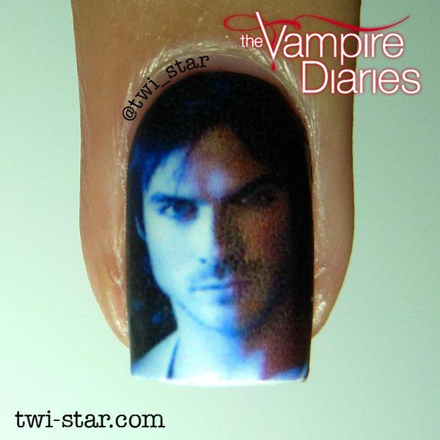 Twi star nail art blog vampire diaries nail art water decal vampirediariesstefandamonelenanailart waterslidedecalspolishswatch07g prinsesfo Choice Image