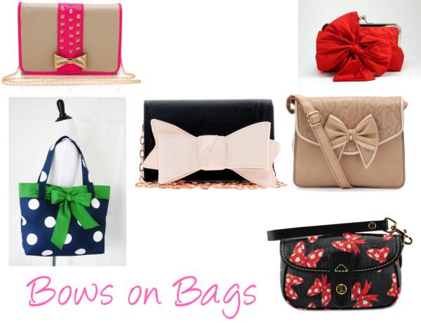 Polyvore Handbags Bows Ribbons