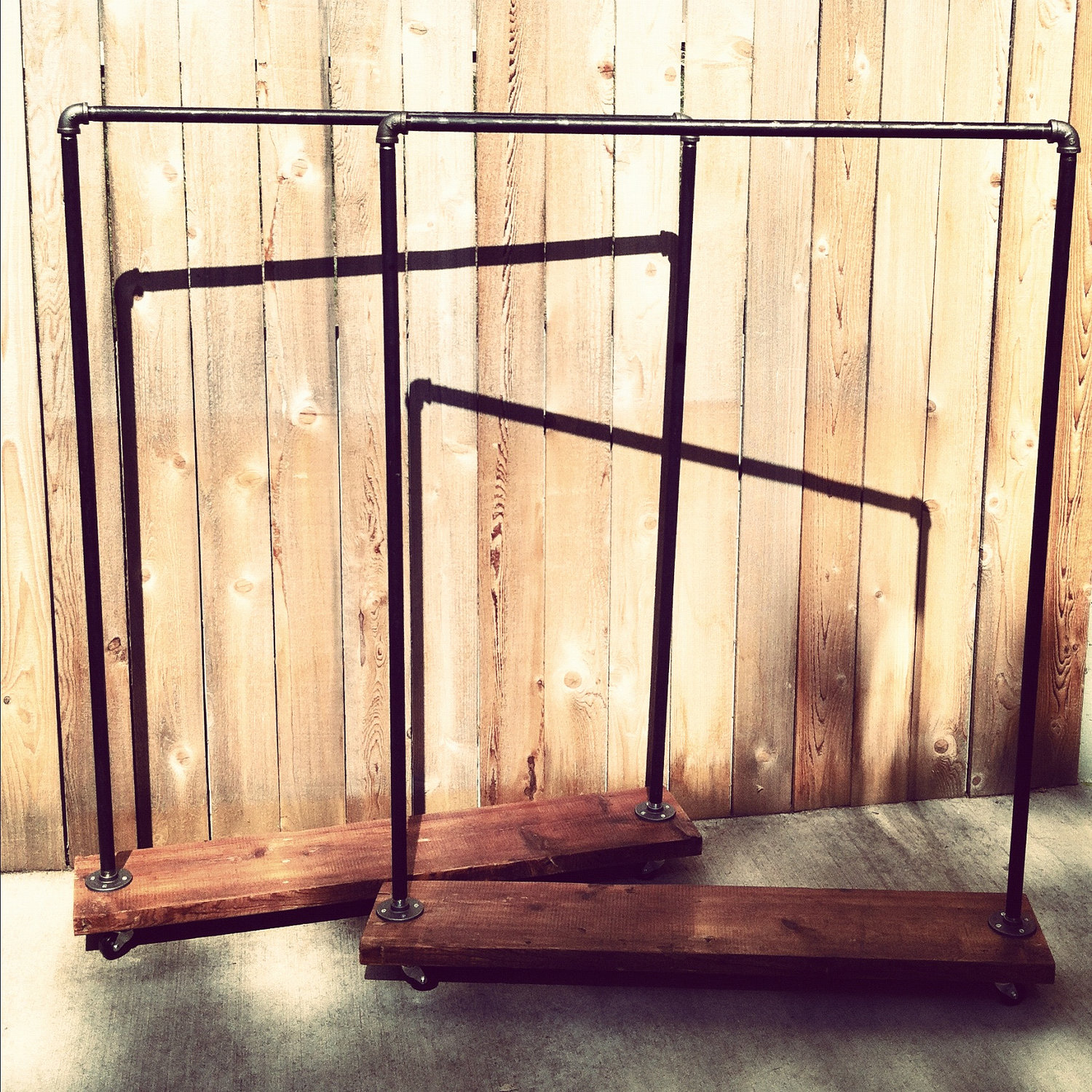 Marvelous photograph of  stunning are these industrial pipe and reclaimed wood clothing rack with #B88313 color and 1500x1500 pixels
