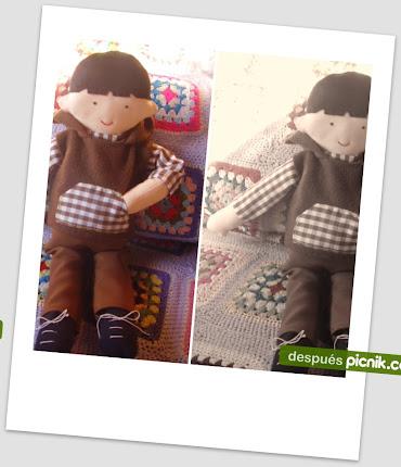 Muñecos de trapo artesanales.