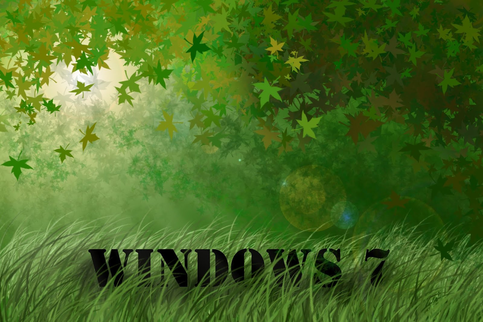 windows 7 grass wallpapers - wallpapers hd