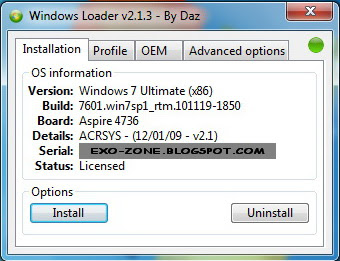 Windows Loader v2.1.3 by DAZ
