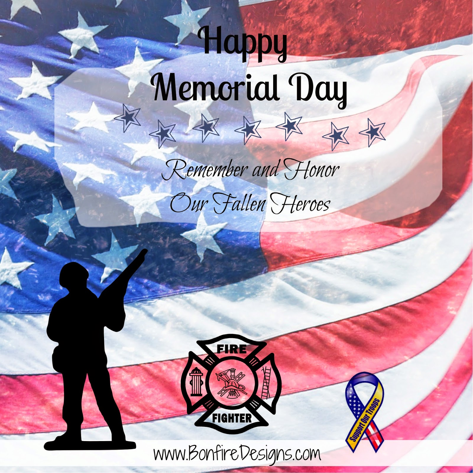Memorial Day Firefighters Honor Our Military