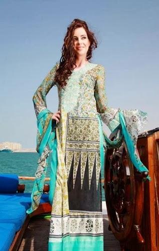 Shariq Feminine Lawn 2014