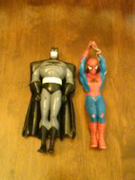 Batman and Spiderman action figures
