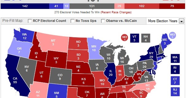 Wake up America: Real Clear Politics Changes Electoral Projection ...