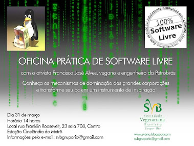 SVB-RIO: Oficina Animais e softwares livres
