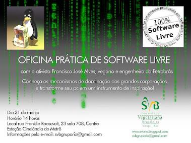 SVB-RIO: Oficina Animais e softwares livres