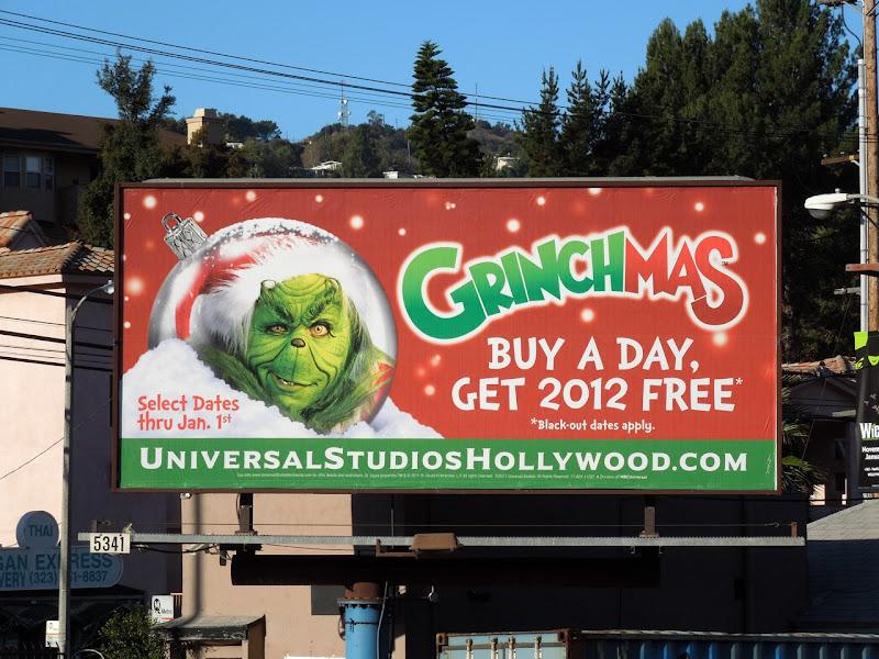 Universal Studios Grinchmas billboard