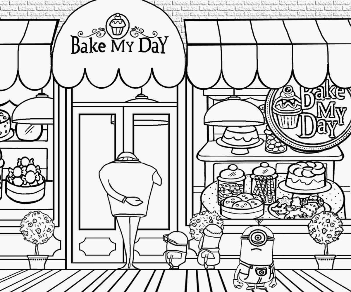 Minion Movie Coloring Pages To Print Coloring Pages