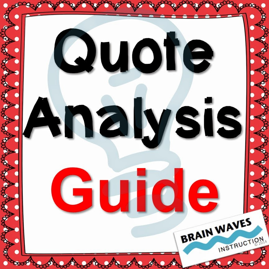 http://www.teacherspayteachers.com/Product/Quote-Analysis-Guide-1121092