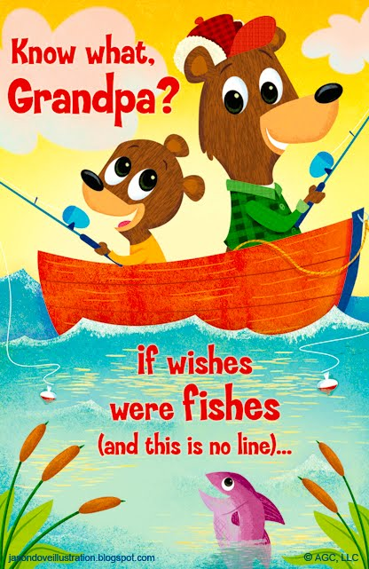 Birthday card for grandpa gangcraft jason dove illustration fishing with grandpa birthday card birthday card bookmarktalkfo Gallery