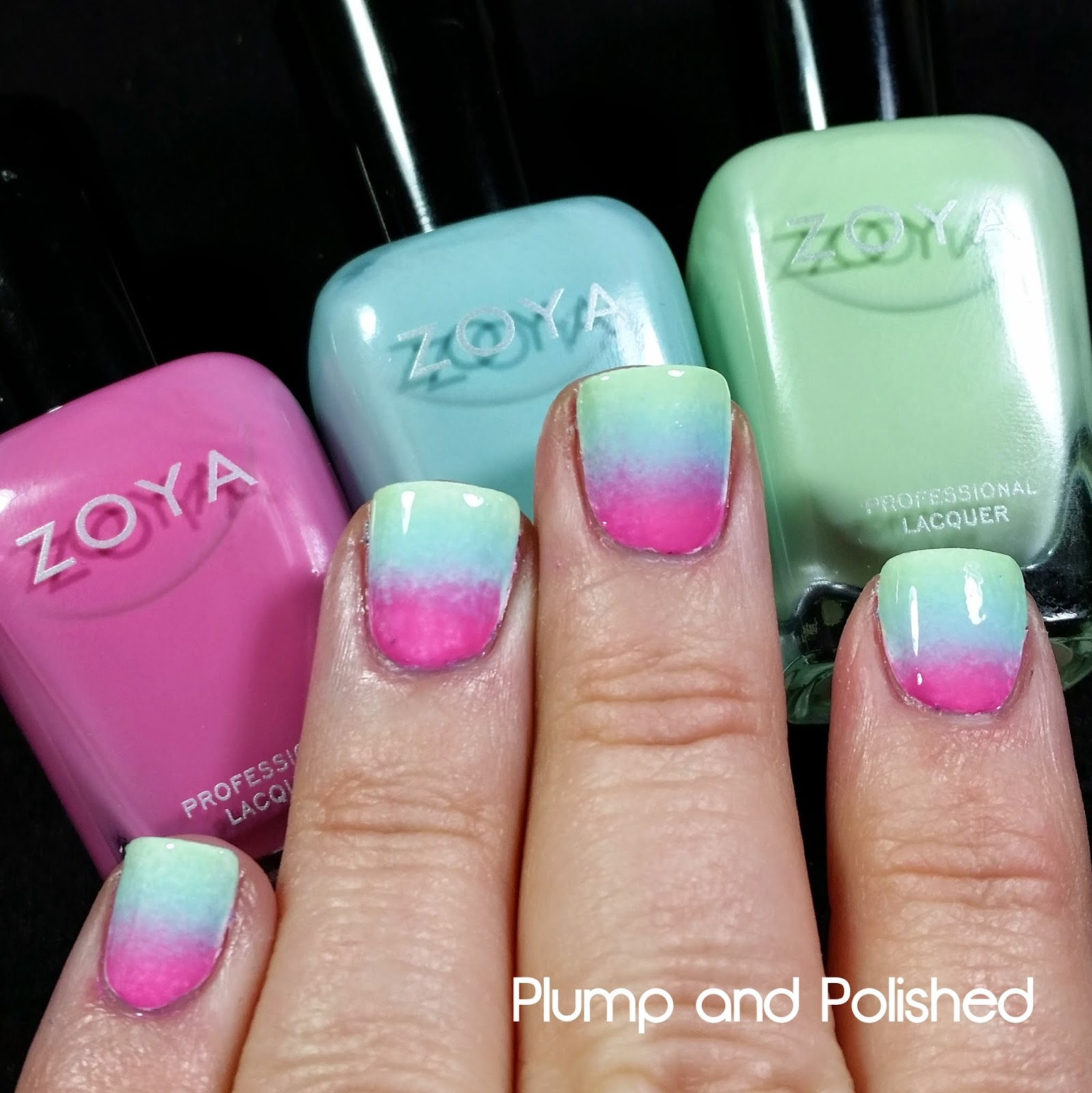 Zoya Delight Gradient Nail Art