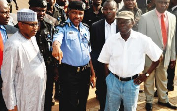 Gov Oshiomhole visited the site where robbers held hostage for hours
