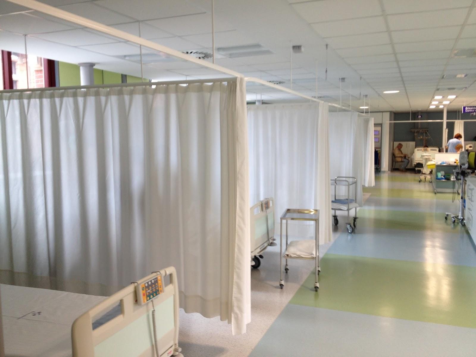 Lekune cortinas separadoras para hospitales o consultas for Rieles para toldos de techo