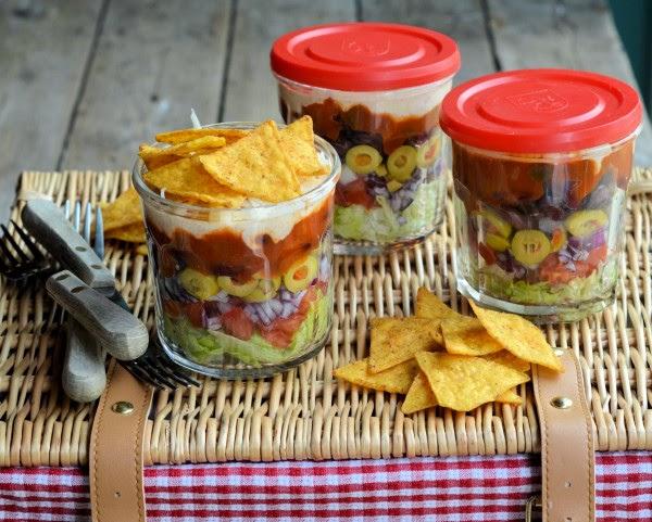 salade complète pour pique-nique, barbecue, lunchbox